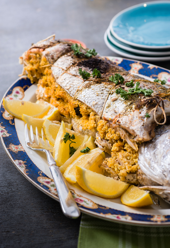Fish Stuffed With Couscous