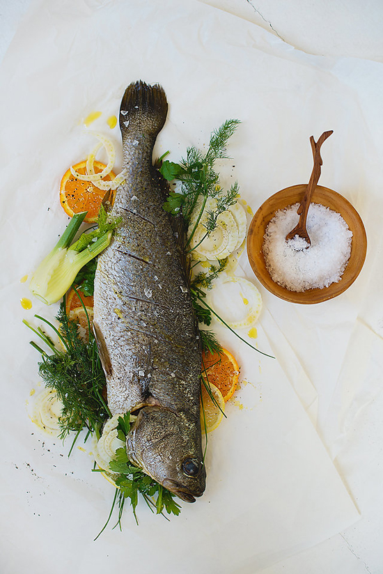 Kob Stuffed With Fennel & Orange recipe