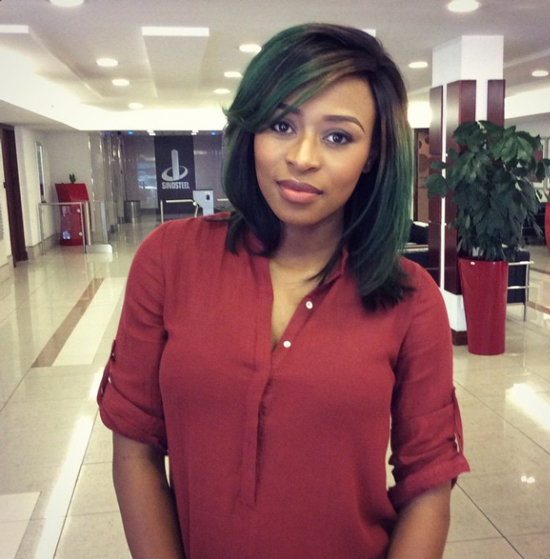 Get Dj Zinhle S Green Hair