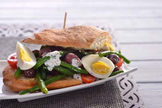 Egg And Beans Sandwich recipe