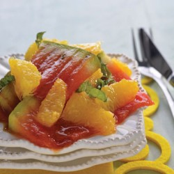Grilled Melon And Orange