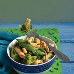 Pasta And Green Vegetables recipe