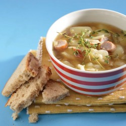 Summer Cabbage Soup And Sausages recipe
