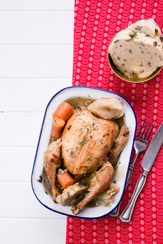 Boiled Chicken With Vegetables recipe