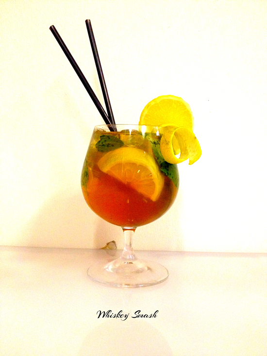 Whiskey Smash Cocktail recipe