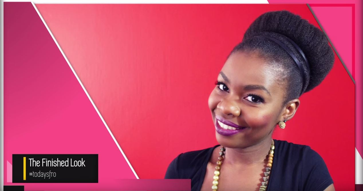 How To Create This Gorgeous High Bun With Your Natural Hair Bona
