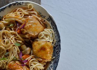 One Pot Chicken and Spaghetti