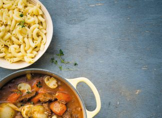 Hearty Beef Stew with Macaroni