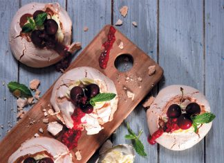 Cherry and Chocolate Pavlova recipe
