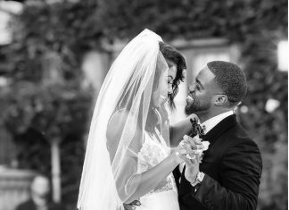 Kevin and Eniko Hart celebrate their one year anniversary