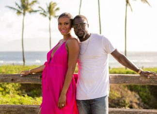 Kevin and Eniko Hart celebrate their anniversary in Hawaii