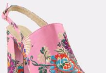 embroidered heel