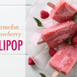 Watermelon and strawberry lollipop