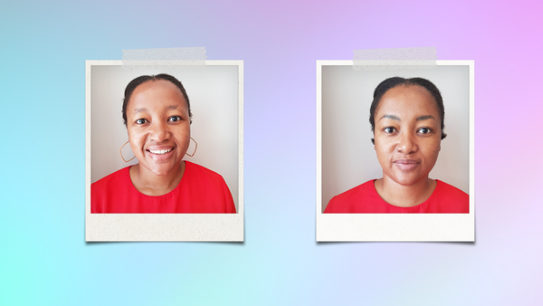 Microblading before and after pics of Bongiwe Tshiqi
