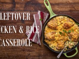 Leftover chicken and rice casserole winter recipe