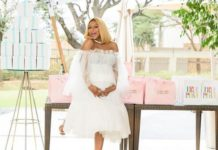 Jessic Nkosi wears pretty maternity wear for her baby bump