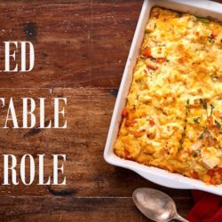 Quick and easy mixed vegetable casserole dish for a meatless recipe