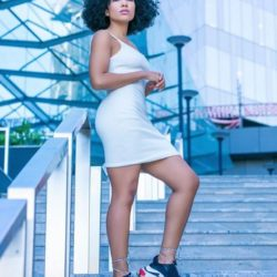sneaker/dress combo