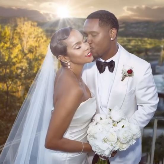 Letoya Luckett and Tommicus Walker celebrate their first anniversary