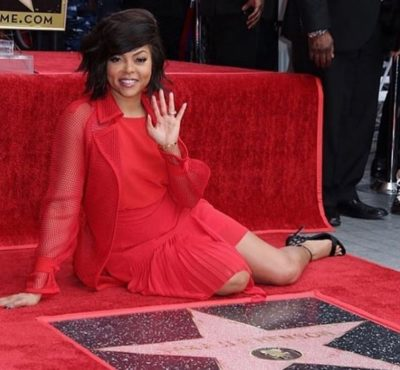 RAji 400x370 - Inside Taraji P. Henson's emotional Hollywood Walk of Fame star ceremony