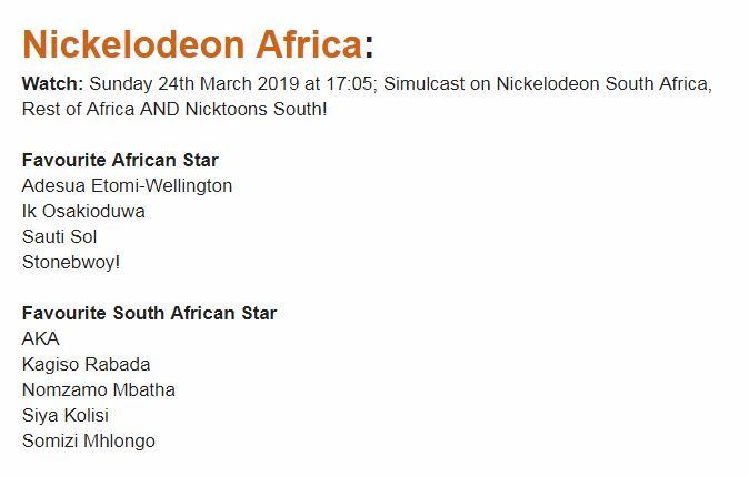 nom 1 - Nomzamo Mbatha scores a Nickelodeon Kid's Choice Awards nomination