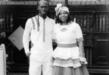 Reneilwe and Mpho Letsholonyane celebrate their first wedding anniversary