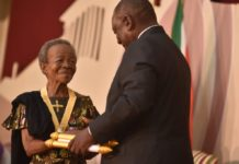 Mary Mhlongo Twala, Nomhle Nkonyeni and Yvonne Chaka Chaka receive their National Orders