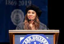 Regina Hall receives an Honorary Doctorate Degree