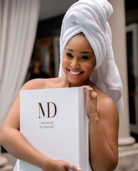 Minnie Dlamini Jones' skincare range