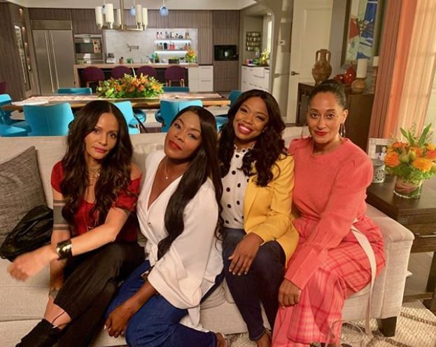 The cast of Girlfriends reunites on Black-ish