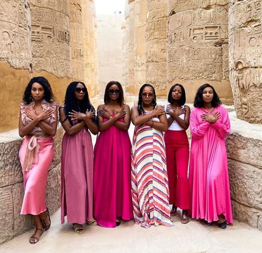 Celeste Khumalo's girls trip in Egypt