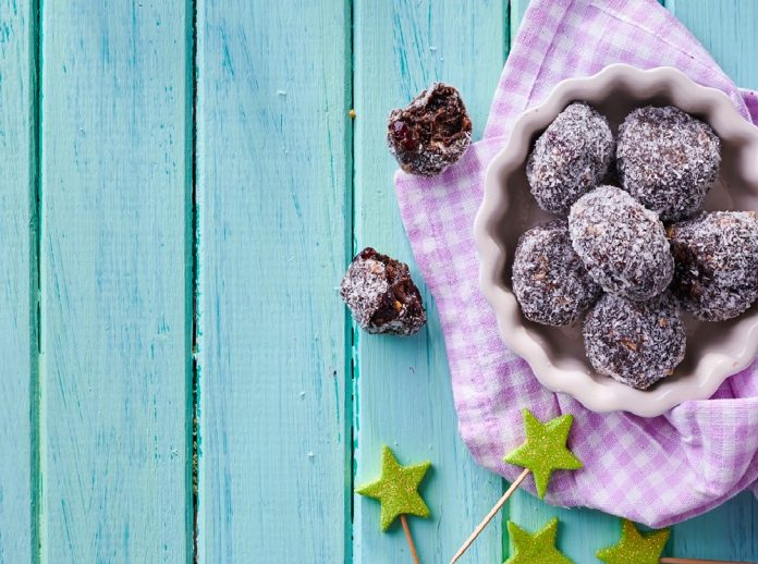 biscuit and cranberry truffle